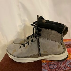 Clarks Privo patterned nubuck lace up boot 7